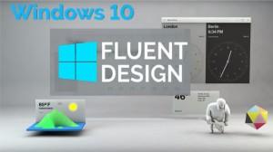 Microsoft Fluent Design System, Beraksi Pada Tampilan Baru Windows 10